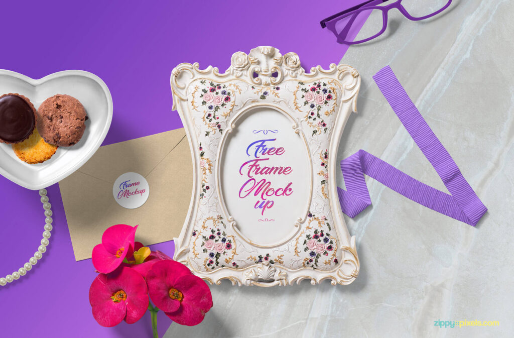 Free Gorgeous Picture Frame Mockup PSD Template (1)