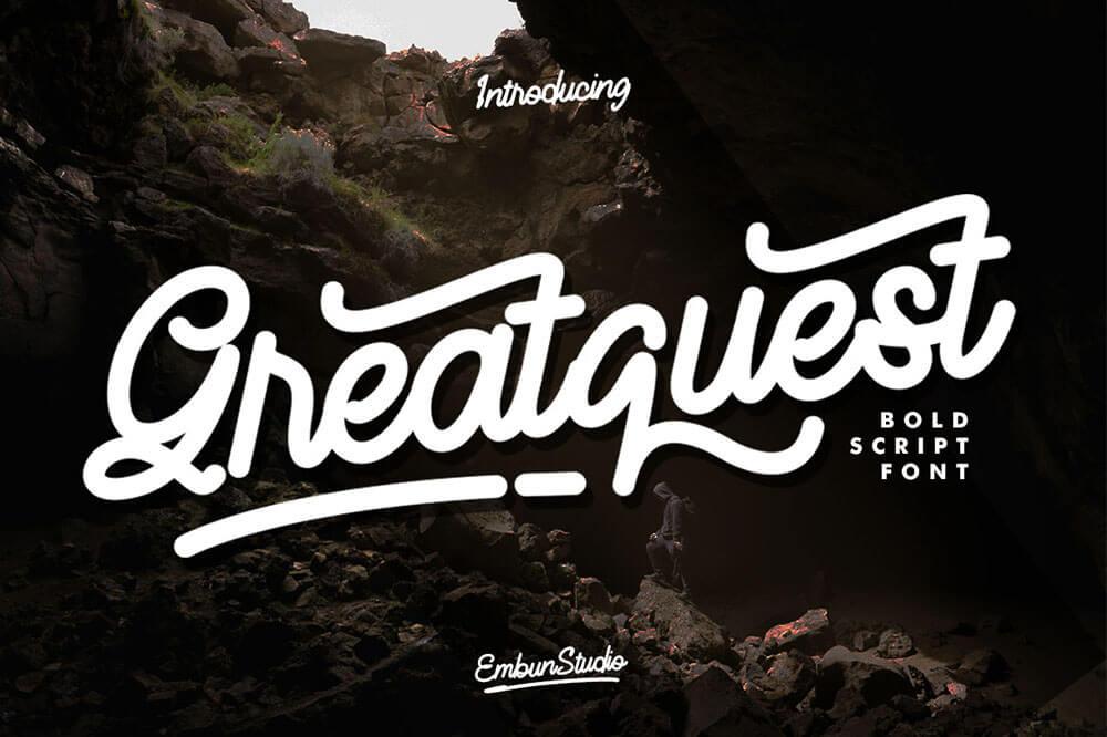 Free Greatquest Bold Script Font (1)