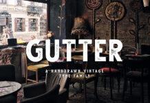 Free Gutter Handdrawn Vintage Font (1)