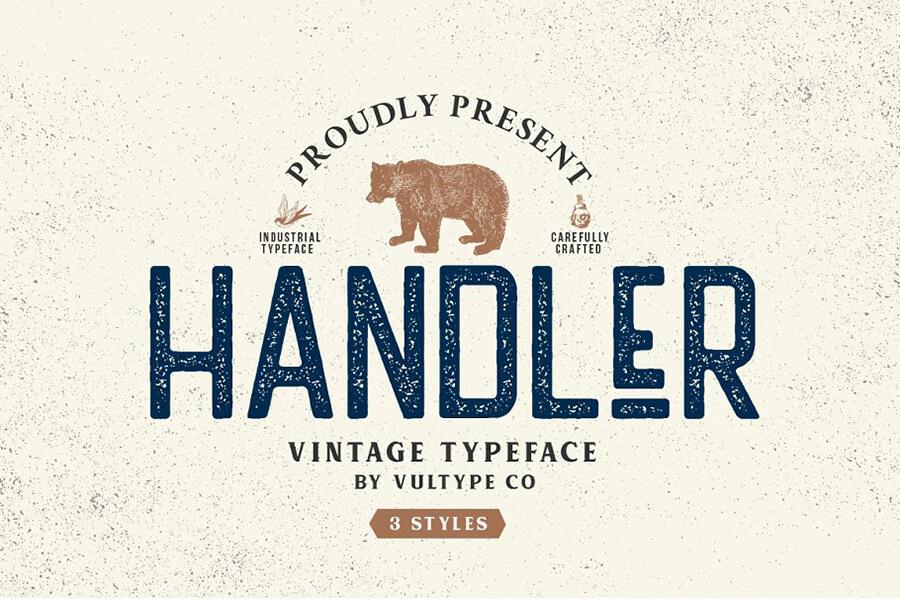 Free Handler Vintage Sans Serif Font (1)