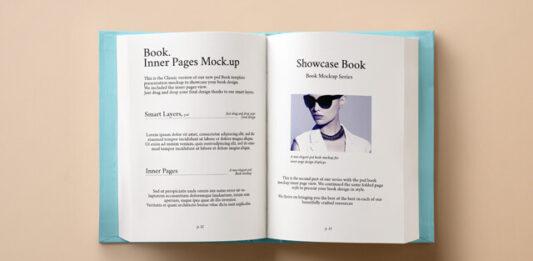 Free Hardback Book Inner Mockup PSD Template (1)