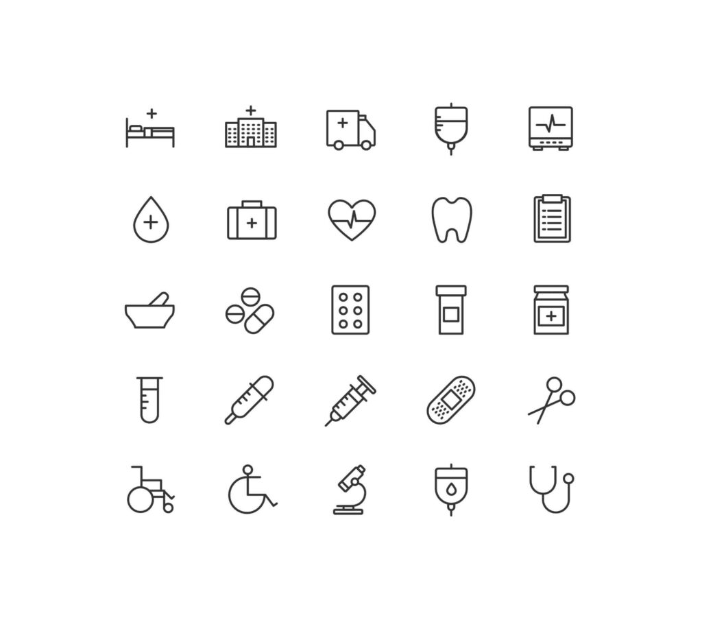Free Health and Care Vector Icons (1)