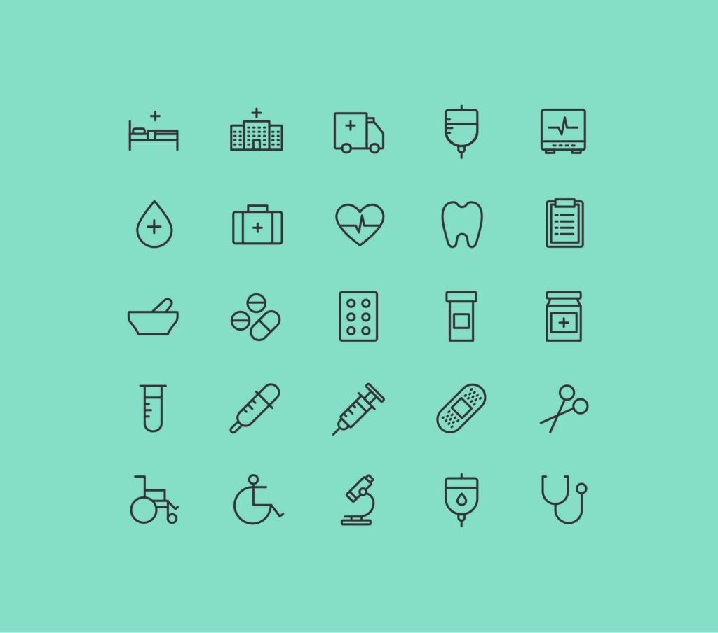 Free Health and Care Vector Icons1 (1)