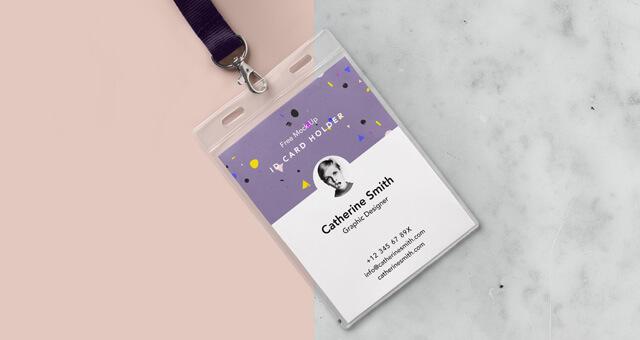 Free Identity Card Holder Mockup PSD Template1 (1)