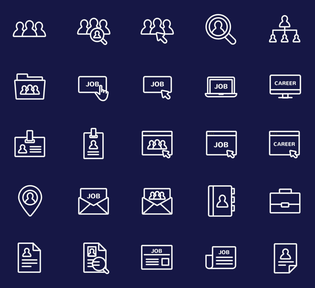 Free Jobs and Careers Vector Icons1 (1)