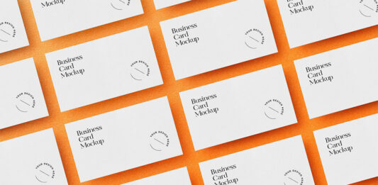 Free Laid Out Business Cards Mockup PSD Templates (1)
