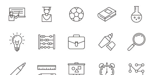 Free Line Education Vector Icons (1)