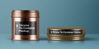 Free Metallic Tin Container Packaging Mockup PSD Template (1)