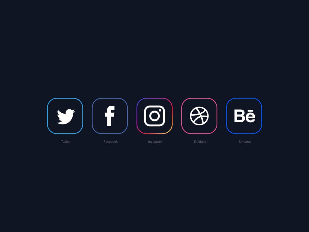 Free Minimal Social Media Vector Icons (1)