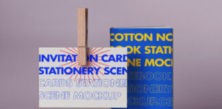 Free Notebook Card Mockup Scene PSD Template (1)