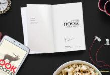 Free Open Book Mockup Scene PSD Template (1)