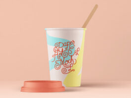 Free Paper Hot Cup Template PSD Template (1)