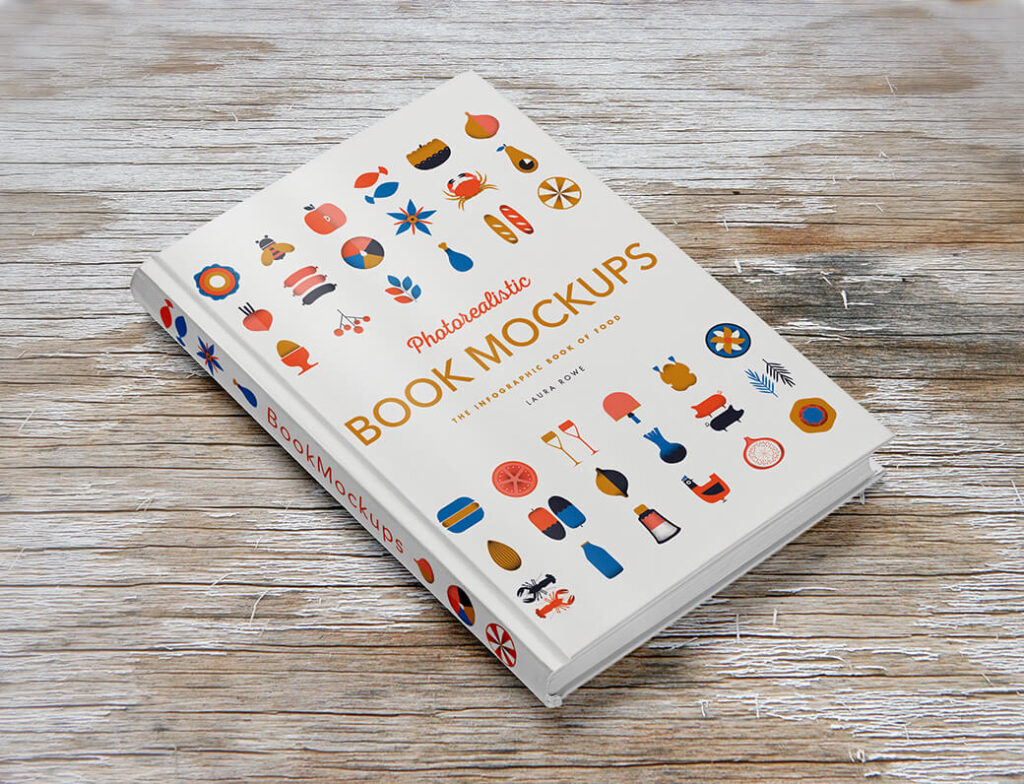 Free Patterned Hardcover Book Mockup PSD Template (1)