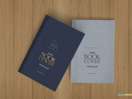 Free Photorealistic Hardcover Book Mockup PSD Template (1)
