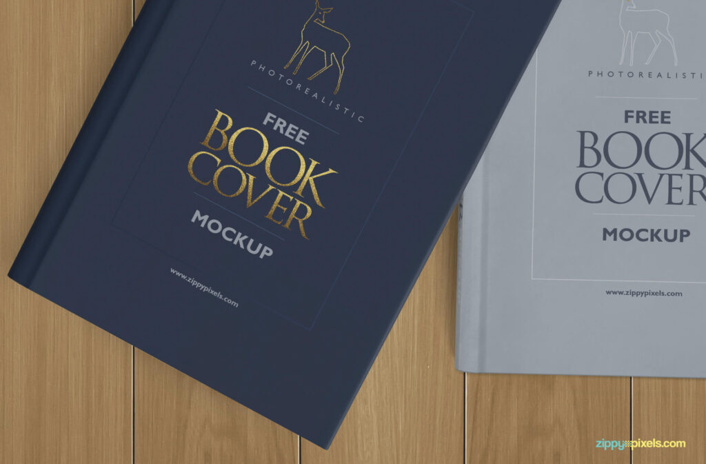 Free Photorealistic Hardcover Book Mockup PSD Template2 (1)