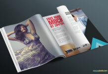 Free Photorealistic Magazine Page Mockup PSD Template (1)