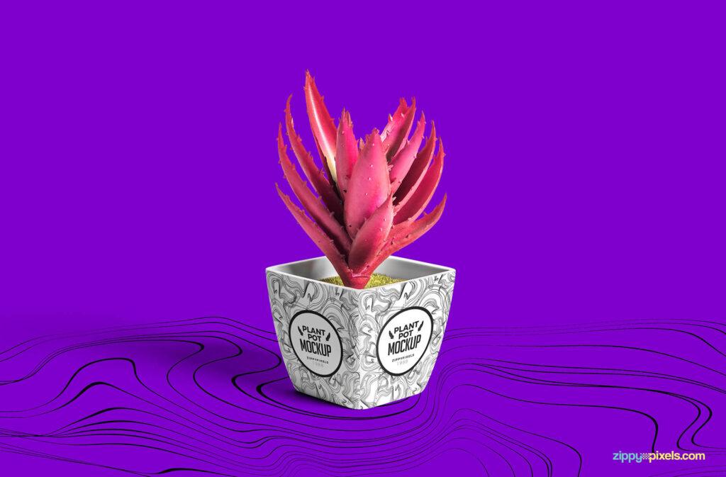 Free Plant Pot Mockup PSD Template (1)