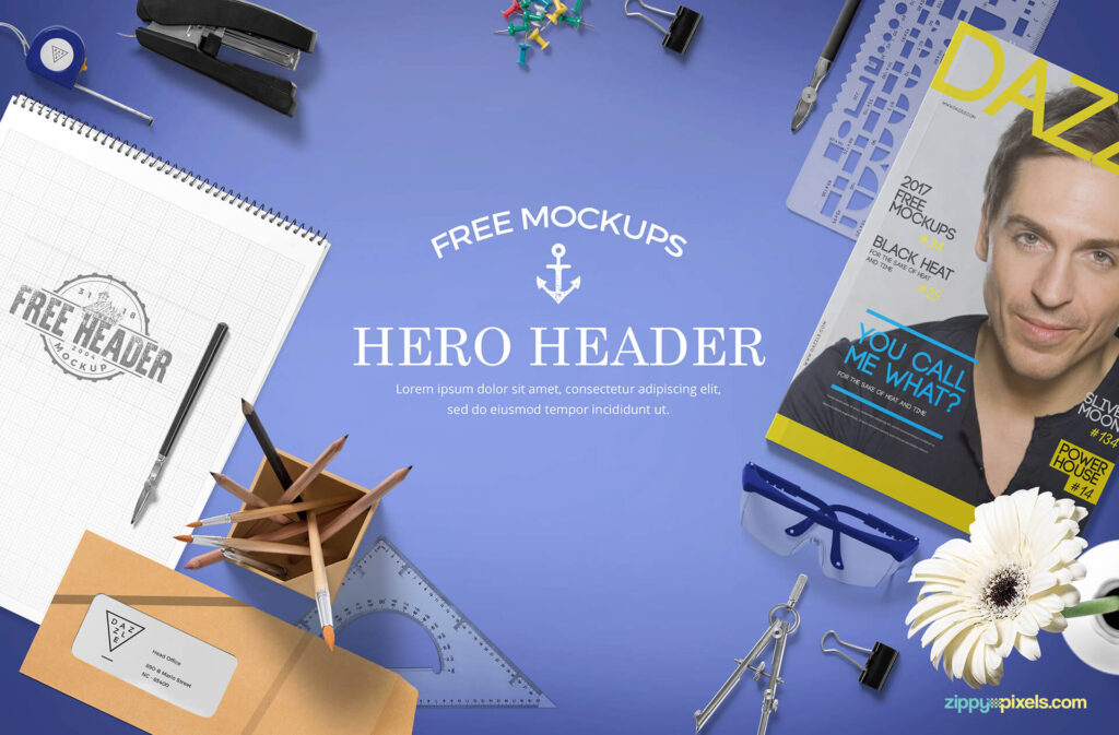 Free Professional Website Hero Images Mockup PSD Template (1)