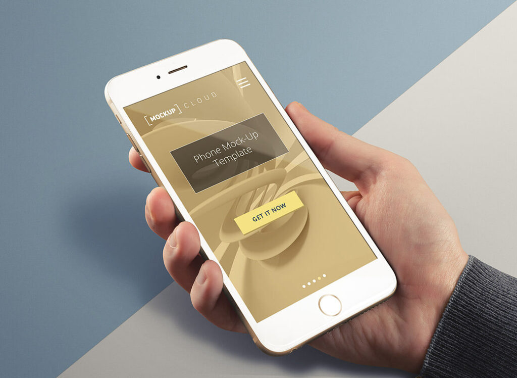 Free Real Photo IPhone Mockup PSD Template (1)