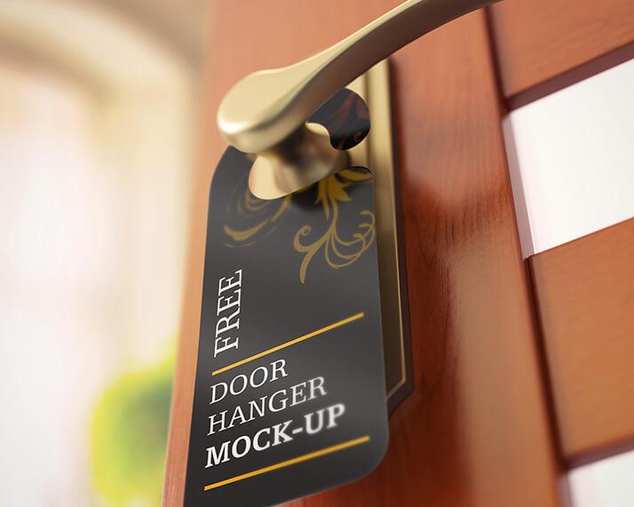 Free Realistic Door Hanger Mockups PSD Template (1)