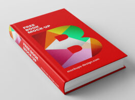 Free Reddish Book Mockup PSD Template (1)