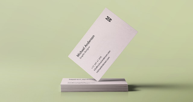 Free Simple Business Card Mockup PSD Template (1)