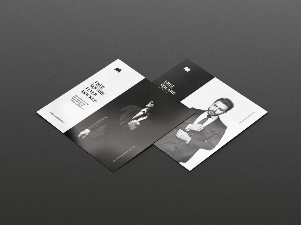 Free Single Square Flyer Mockup PSD Template (1)