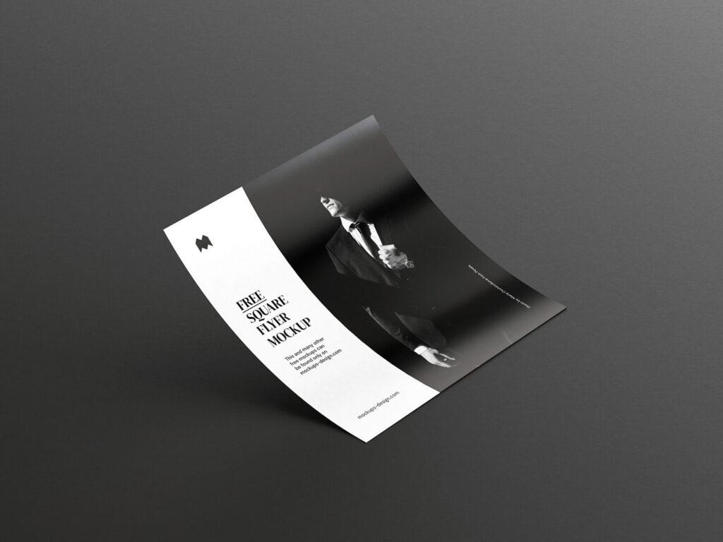 Free Single Square Flyer Mockup PSD Template2 (1)