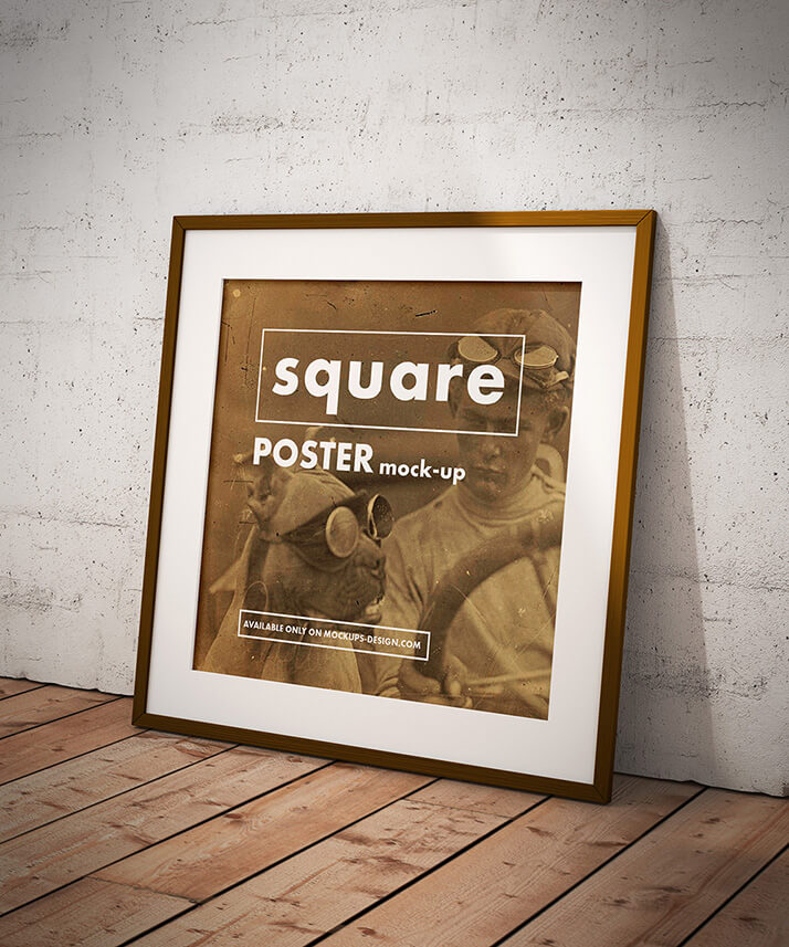 Free Square Poster Mockup PSD Template1 (1)