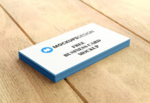 Free Stack Of Real Business Card Mockup PSD Template (1)