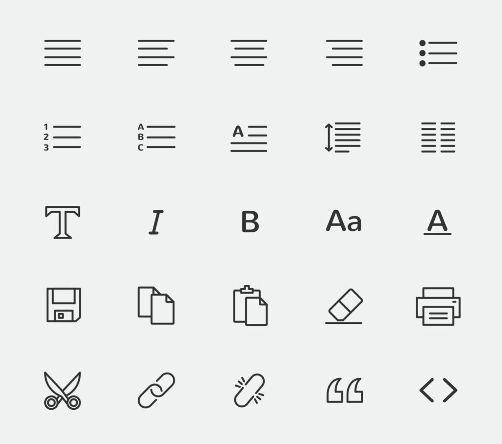 Free Text Editor Vector Icons1 (1)