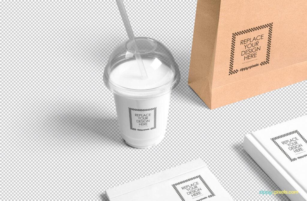 Free Transparent Plastic Cup Mockup PSD Template1 (1)