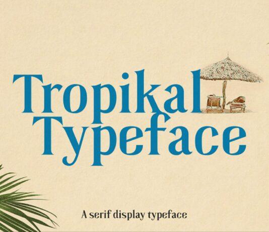 Free Tropikal Display Serif Font (1)
