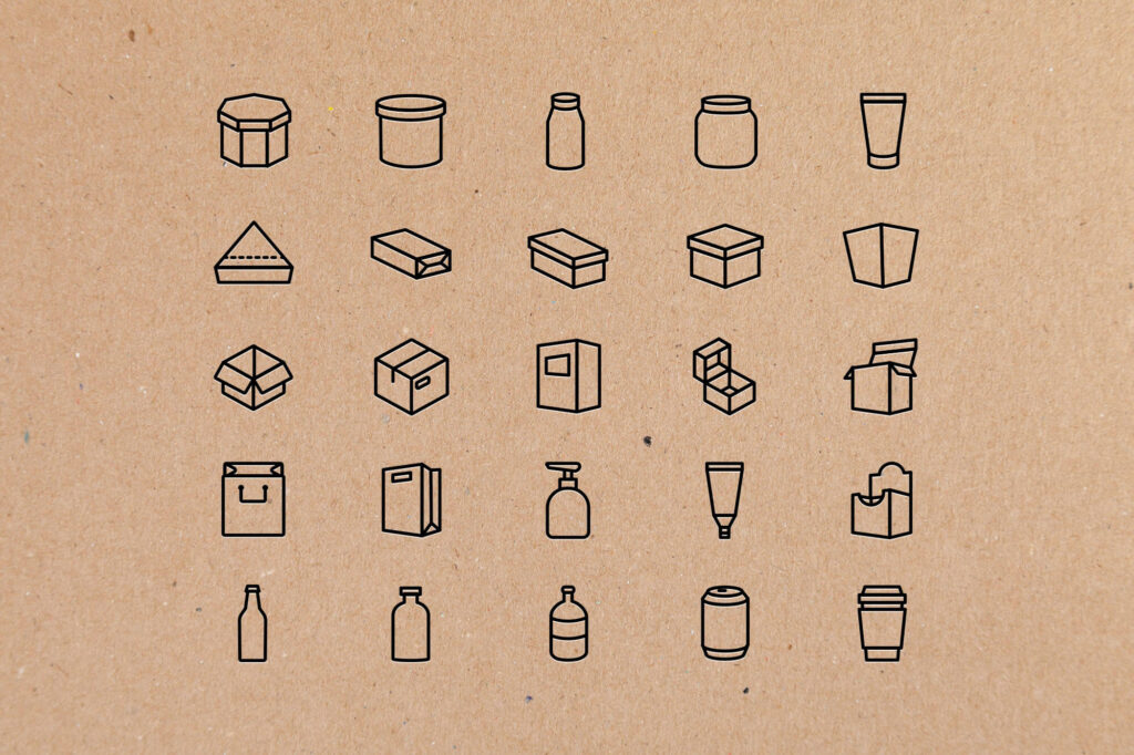 Free Utilizable 25+ Packaging Vector Icons (1)