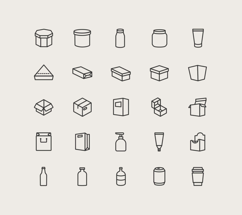 Free Utilizable 25+ Packaging Vector Icons1 (1)