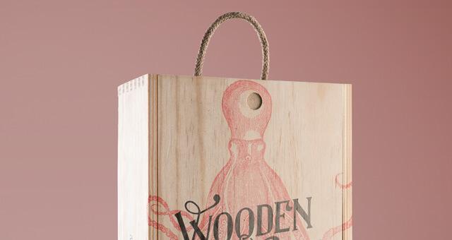 Free Wine Wood Box Mockup PSD Template (1)