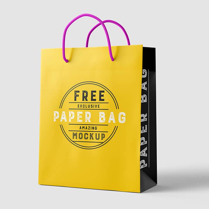 Free Yellow Paper Bag Mockup PSD Template1 (1)