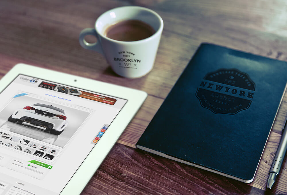Free iPad, Cup Logo & Notebook Logo Mockup PSD Template (1)