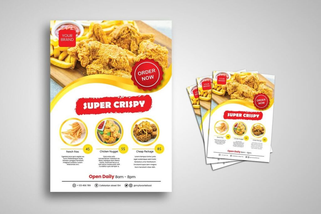 Fried Chicken Flyer Promo Template (1)