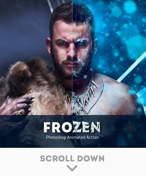 Frozen Animated Photoshop Action (1)
