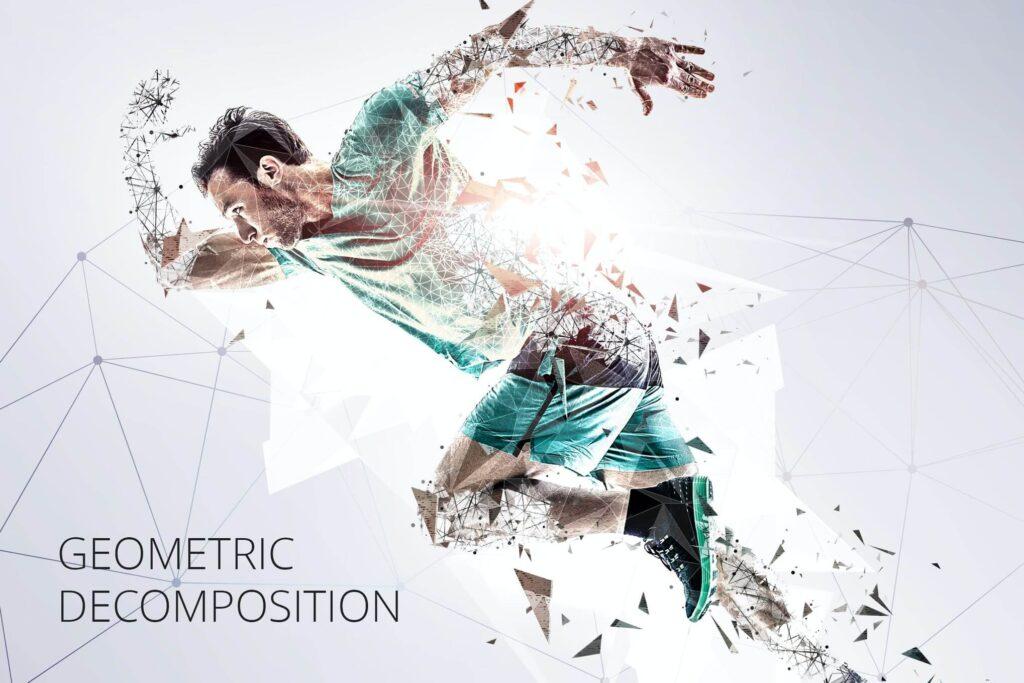 Geometric Decomposition Photoshop Action (1)