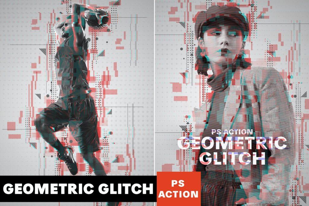 Geometric Glitch Photoshop Action (1)