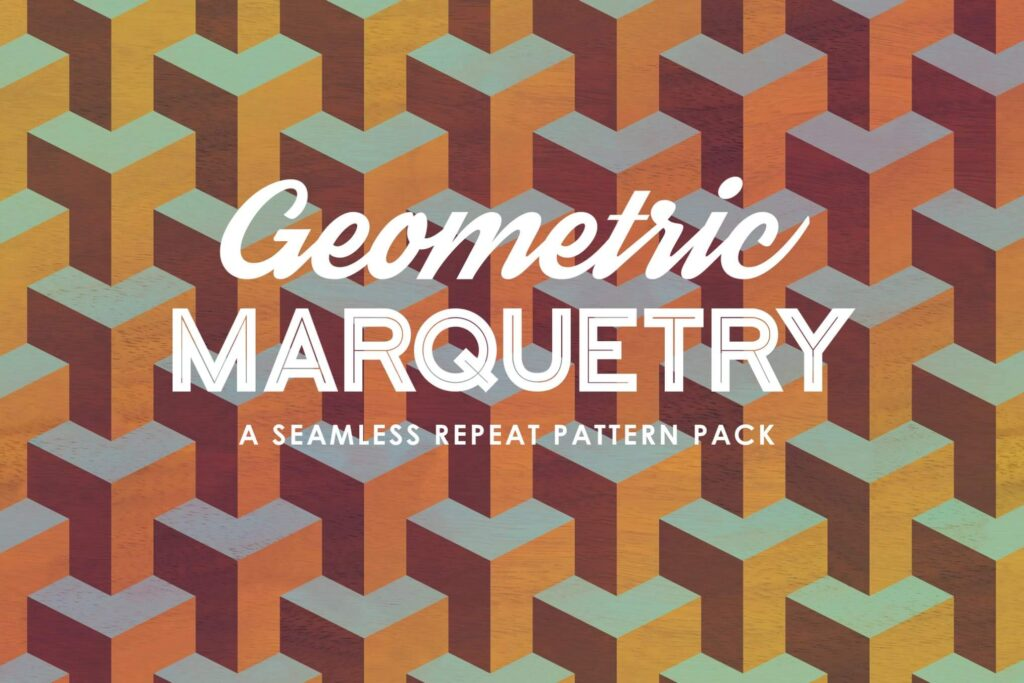 Geometric Marquetry Patterns (1)