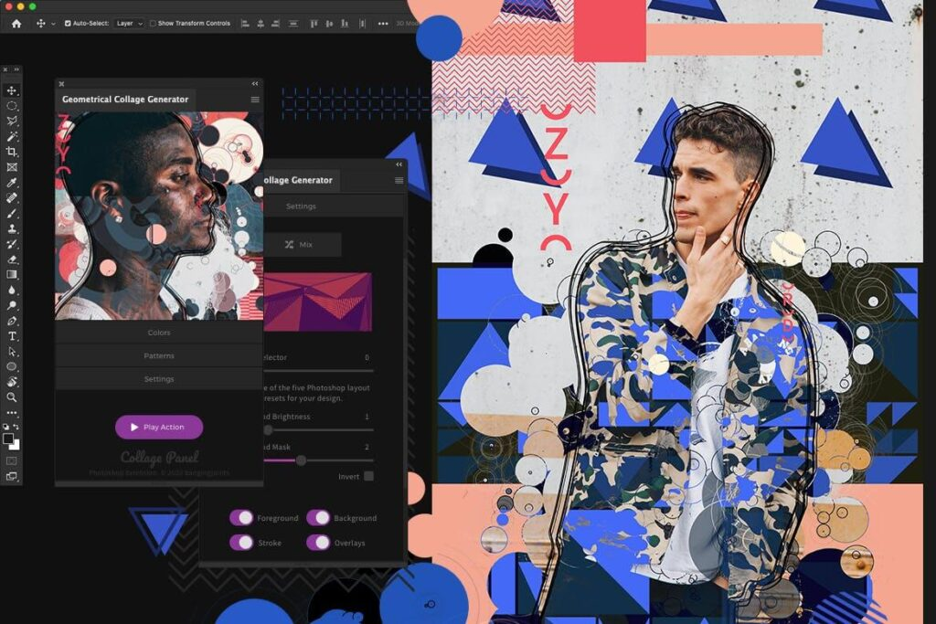 Geometrical Collage Generator - Photoshop Plugin (1)