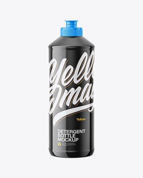 Glossy Detergent Bottle Mockup (1)