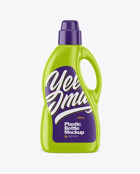 Glossy Detergent Bottle Mockup (2)