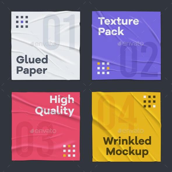 Glued Wrinkled Paper Set (1)