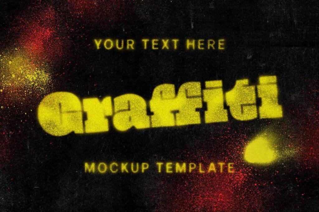 Graffiti Text Mockup Template (1)