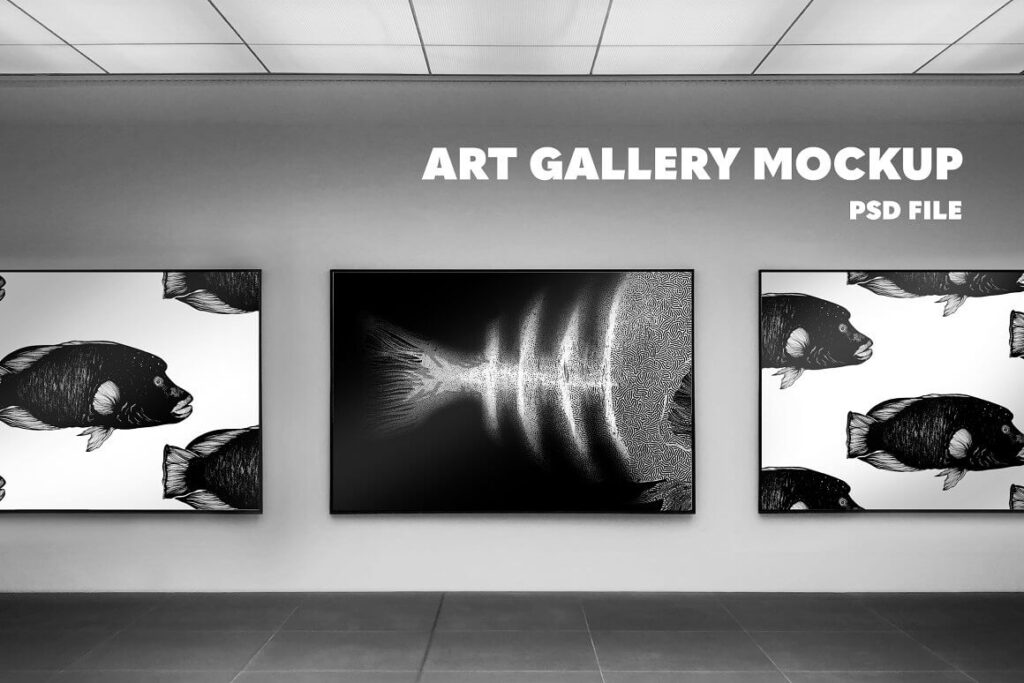 Horizontal Poster Art Gallery Mockup (1)