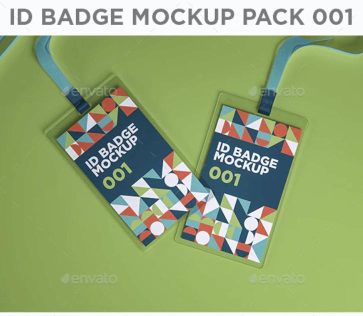 ID Badge Mockup Pack 001